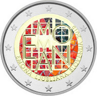 Slovenia 2 € 2015 Emona-Ljubljana väritetty