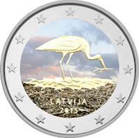 Latvia 2 € 2015 Mustahaikara väritetty