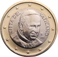Vatikaani 1 € 2016 Franciscus BU