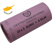 Kypros 2 € 2015 rulla, lyöntimäärä 100 000 kpl