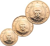 Vatikaani 10, 20 & 50 senttiä 2016 BU