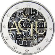 Liettua 2 € 2015 Liettuan Kieli väritetty