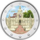 Saksa 2 € 2016 Sachsen / Zwinger väritetty