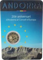 Andorra 2 € 2014 Euroopan Neuvosto 20 vuotta BU
