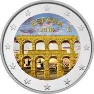 Espanja 2 € 2016 Segovia väritetty