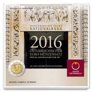 Itävalta 2016 BU rahasarja Itävallan Keskuspankki 200 v.