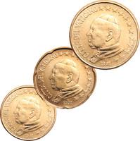 Vatikaani 10, 20 & 50 senttiä 2002 pillereissä BU