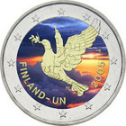 Suomi 2 € 2005 YK 50 vuotta väritetty