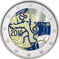 Suomi 2 € 2010 Suomalainen raha 150 vuotta väritetty