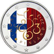 Suomi 2 € 2013 Valtiopäivät 150 vuotta väritetty