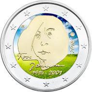 Suomi 2 € 2014 Tove Jansson väritetty