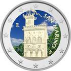 San Marino 2 € 2013 Linnoitus väritetty