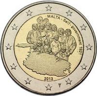 Malta 2 € 2013 Itsehallinto 1921 Y- kirjaimella BU