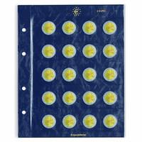 Leuchtturm Vista-säilytyslehti 2 euron juhlarahoille