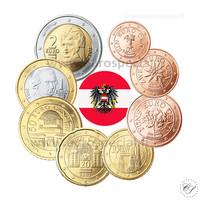 Itävalta 1s - 2 € sekavuodet UNC
