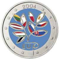 Suomi 2 € 2004 EU:n laajentuminen väritetty