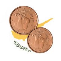 Kypros 1 c & 2 c 2010 UNC
