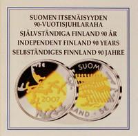 Suomi 5 € 2007 Itsenäisyys 90 vuotta BU