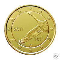 Suomi 2 € 2011 Suomen pankki 200 vuotta kullattu