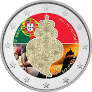 Portugali 2 € 2016 Olympialaiset Riossa väritetty