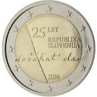 Slovenia 2 € 2016 Itsenäisyys 25 vuotta