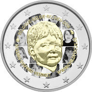 Belgia 2 € 2016 Child Focus väritetty