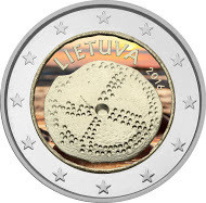 Liettua 2 € 2016 Baltian kulttuuri väritetty