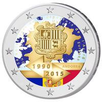 Andorra 2 € 2015 Tullisopimus 25 vuotta väritetty