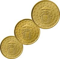 Vatikaani 10, 20 & 50 senttiä 2005 Sede Vacante pillereissä BU