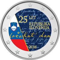 Slovenia 2 € 2016 Itsenäisyys 25 vuotta väritetty