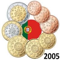 Portugali 1s - 2 € 2005 UNC