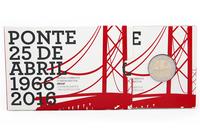 Portugali 2 € 2016  Ponte 25 de Abril- silta 50 v. PROOF