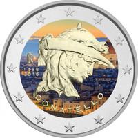 Italia 2 € 2016 Donatello väritetty