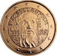 Suomi 2 € 2013 F. E. Sillanpää kullattu