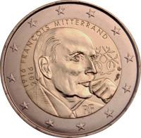 Ranska 2 € 2016 François Mitterrand