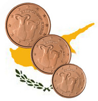 Kypros 1s, 2s & 5s 2015 UNC