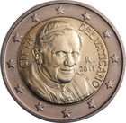 Vatikaani 2 € 2010 Benedictus XVI BU pillerissä