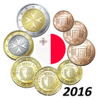 Malta 1s- 2 € 2016 UNC
