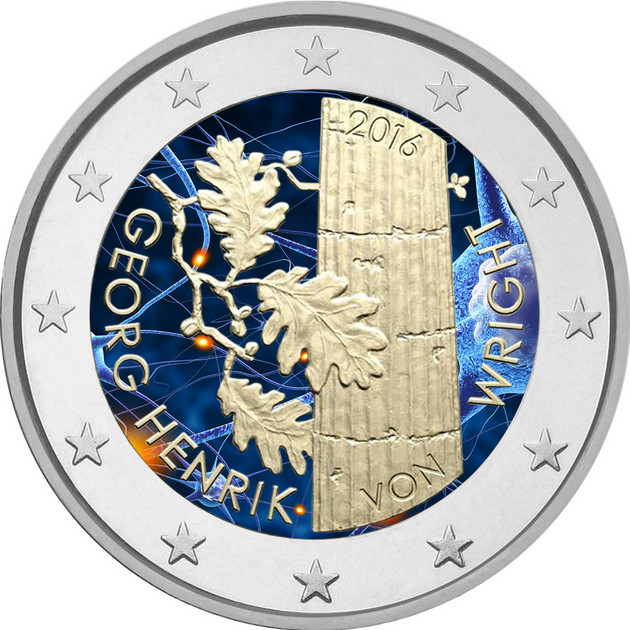 Suomi 2 € 2016 Georg Henrik von Wright väritetty - Eurospecial.fi