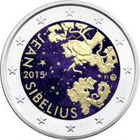 Suomi 2 € 2015 Jean Sibelius väritetty