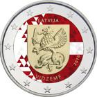 Latvia 2 € 2016 Vidzeme väritetty