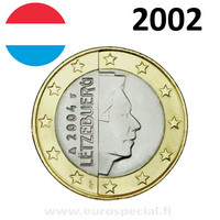Luxemburg 1 € 2002 suurherttua Henri UNC