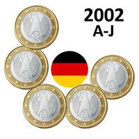 Saksa 1 € 2002 Kotka A-J UNC