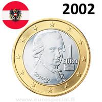 Itävalta 1 € 2002 Mozart UNC