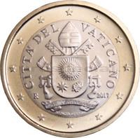 Vatikaani 1 € 2017 Vatikaanin vaakuna BU