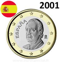 Espanja 1 € 2001 Juan Carlos I UNC