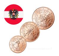 Itävalta 1s, 2s & 5s 2002 UNC