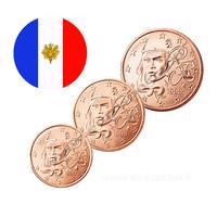 Ranska 1s, 2s & 5s 1999 UNC