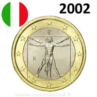 Italia 1 € 2002 Vitruvianus UNC