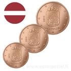 Latvia 1s, 2s & 5s 2014 UNC